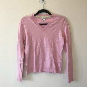 Lilly Pulitzer Light Pink V Neck Sweater Small